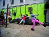 Youngsters dance to the music at the Windows of Soul event in Trenton's Wilbur Section on the 100 block of Walnut Avenue on Saturday Oct. 17, 2015. (Scott Ketterer - The Trentonian)